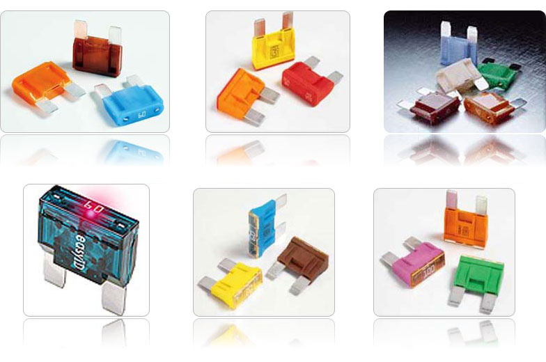 Maxi fuses in different size and variations